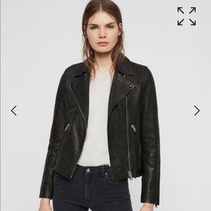 allsaints Dalby leather jacket sz 2US